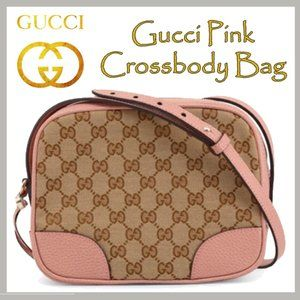 Gucci Pink & Brown GG Crossbody Bag